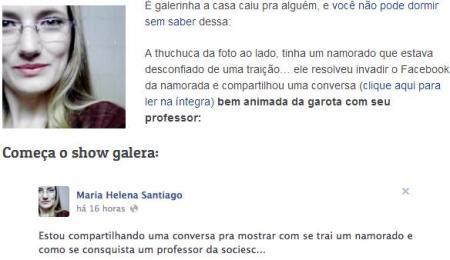 BLOG TV TUDO - TRAIÇÃO FACEBOOK