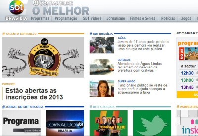 Site oficial do SBT  adtulo