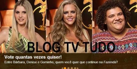 BLOG TV TUDO A FAZENDA VOTAÇÃO